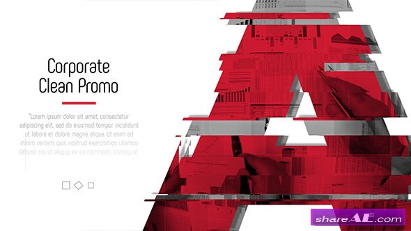 Videohive Glitch Corporate - Clean Promo