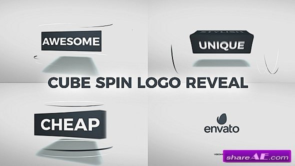 Videohive Cube Spin Logo Reveal