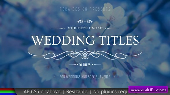 Videohive Wedding Titles 20439562