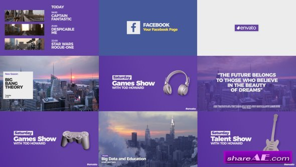 Videohive Modern Broadcast Pack