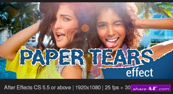 Videohive Paper Tears