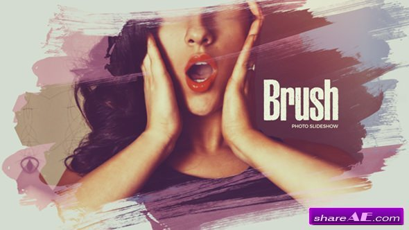 Videohive Beautiful Brush Photo Slideshow