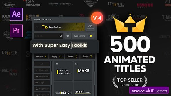 Videohive TypoKing | Pack of Titles & Typos - After Effects Projects