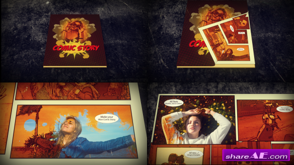 Videohive Comic Slideshow