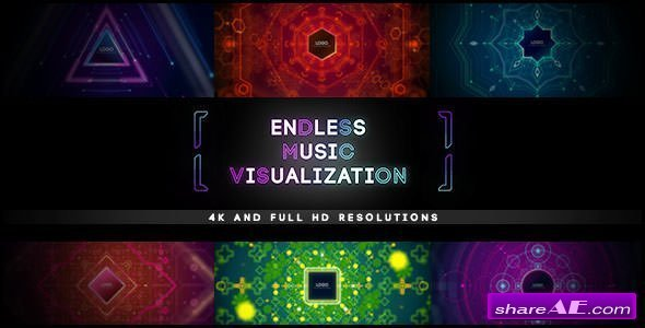 Videohive Endless Music Visualization 4K Project