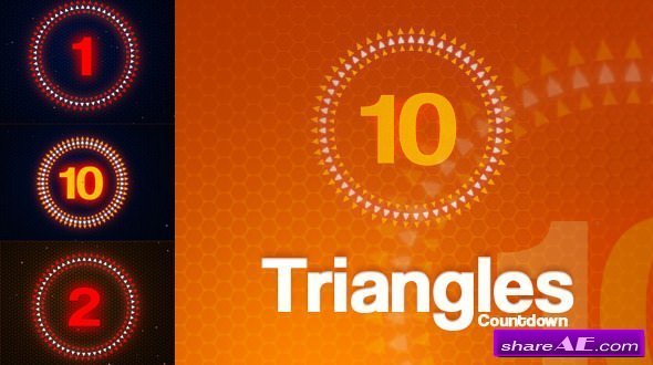 Videohive Triangles Countdown