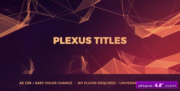 Videohive Plexus Titles