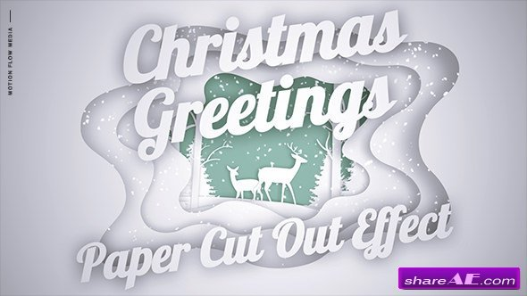 Videohive Christmas Greetings - Paper Cut Out