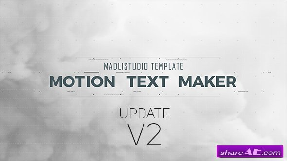 Videohive Motion Text Maker v2