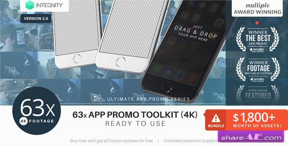 Videohive The Ultimate App Promo - UltraHD Mockup Toolkit