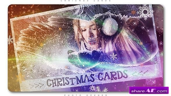 Videohive Christmas Cards Photo Opener