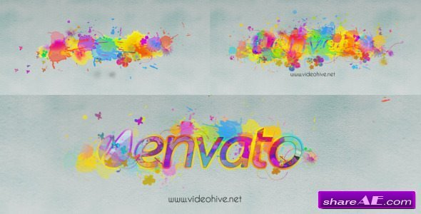 Videohive Logo Revealer Paint Drops Design