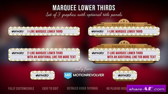 Videohive Marquee Lower Thirds