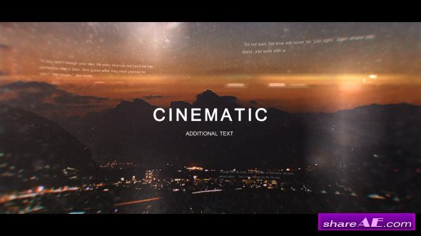 Videohive Cinematic Trailer 20845655