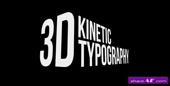Videohive 3D Kinetic Typography Titles