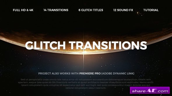 Videohive Glitch Transitions 20479670