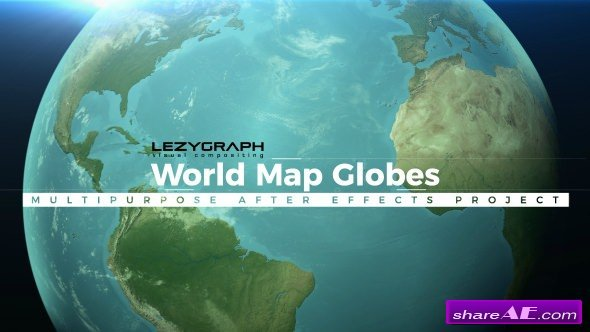 Videohive World Map Globes