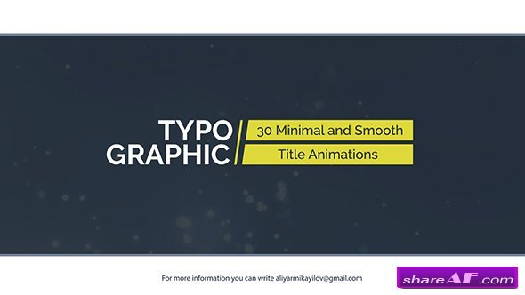 Videohive Typographic - 30 Title Animations