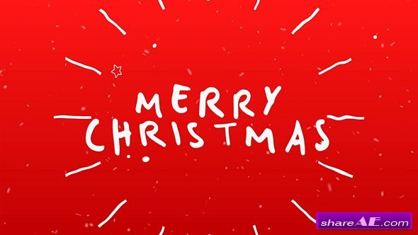 Videohive Christmas Typography Card