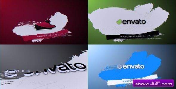 Videohive Brush Logo Reveal