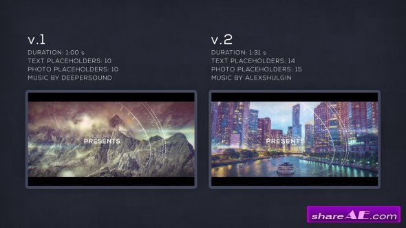 Videohive Parallax Glitch Slideshow