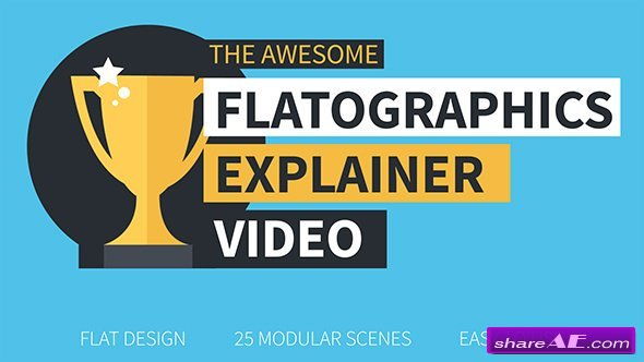 Videohive Flatographics Explainer Video