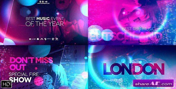 Videohive Ultraviolet Music Party