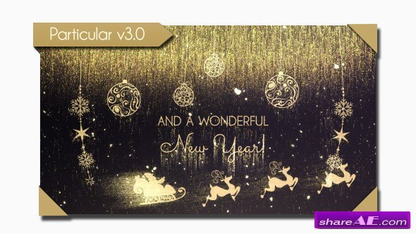 Videohive Golden Christmas Wishes