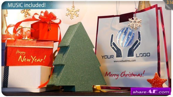 Videohive Christmas Gifts Logo - Storefront Digital Signage