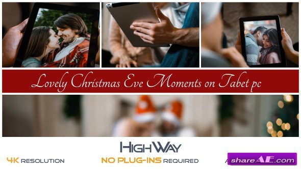 Videohive Lovely Christmas Eve Moments on Tablet PC