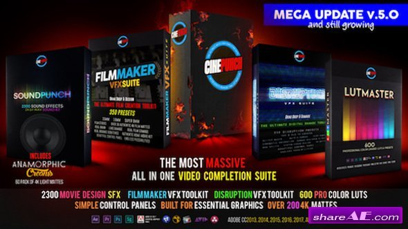 Videohive CINEPUNCH Master Suite V5.0