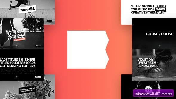 Videohive Blade Titles v5.0