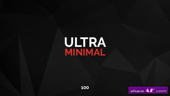 Videohive 100 Ultra Minimal Titles