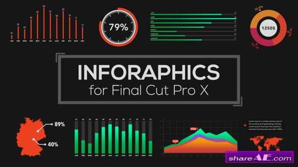 Videohive Infographics Builder for Final Cut Pro X - Apple Motion Templates