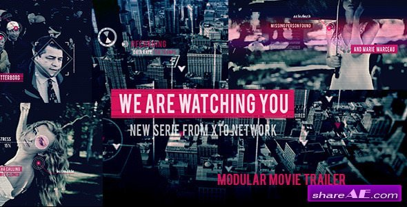 Videohive Watching You Movie Trailer