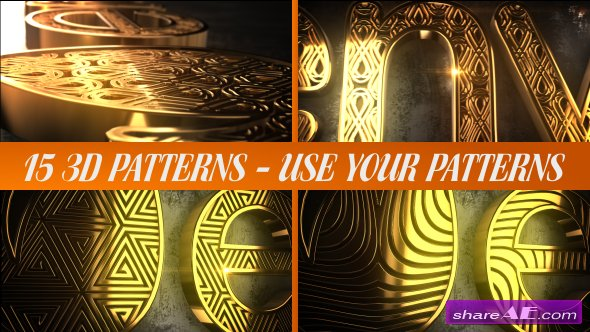 Videohive Glaring Pattern Maker Logo Reveal