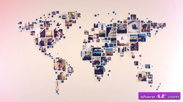 Videohive World Photos Slideshow
