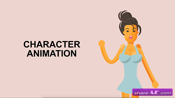 Videohive Sexy Girl Character Rigged Animation