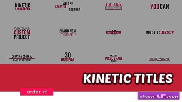 Videohive Kinetic Typography 20880695