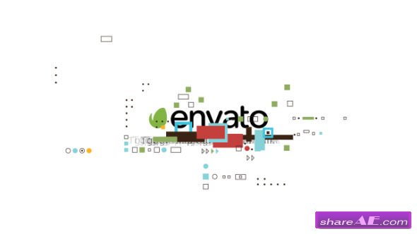Videohive Shape Glitch Logo