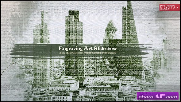Videohive Engraving Art Slideshow
