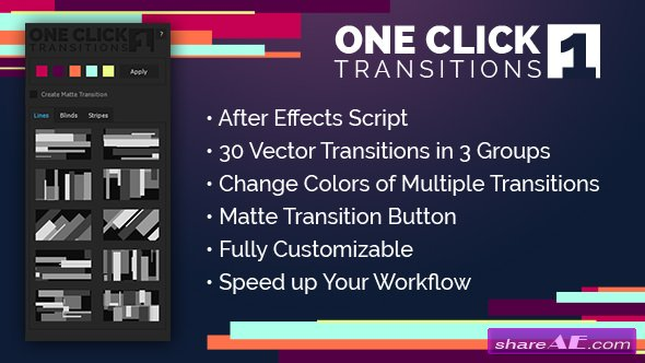 Videohive One Click Transitions Vol.1