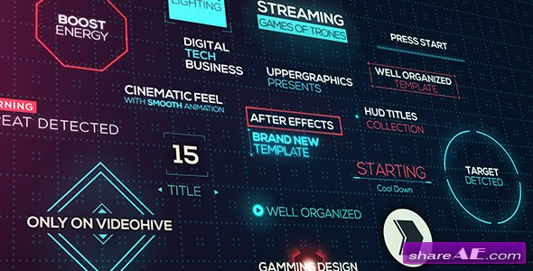 Videohive Cinematic HUD Titles
