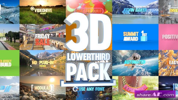 Videohive 3D Lowerthird Title Pack
