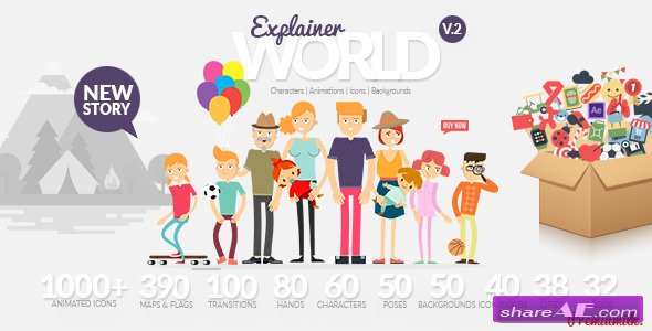 Videohive Explainer World Video Toolkit Library