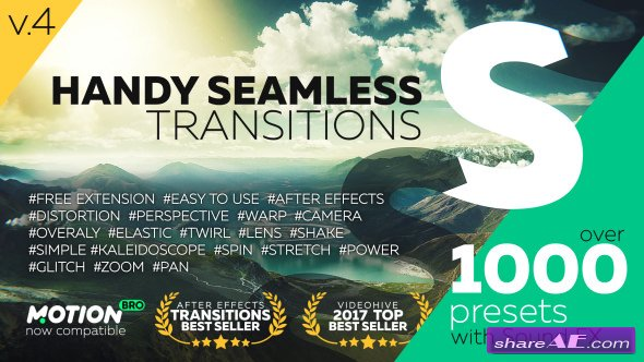 Videohive Handy Seamless Transitions | Pack & Script V4