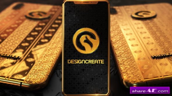 Videohive Phone X Gold Logo