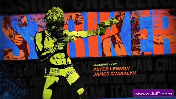 Videohive Cyberpunk Movie Titles