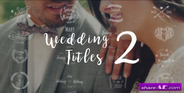 Videohive Wedding Titles 2