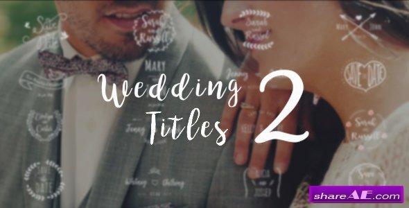 Videohive Wedding Titles 2